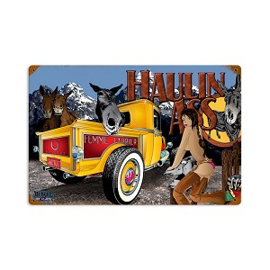 Haulin Ass Vintage Metal Sign