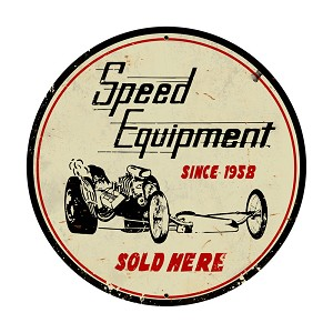 Speed Equipment Vintage Metal Sign
