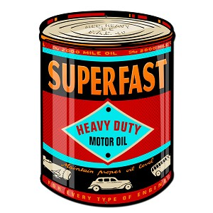 SuperFast Oil Can Vintage Metal Sign