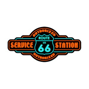 Route 66 Service Vintage Metal Sign
