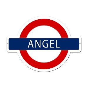 Angel Underground Vintage Metal Sign