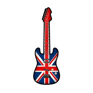 British Guitar Vintage Metal Sign
