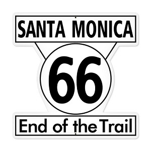 Santa Monica 66 Vintage Metal Sign