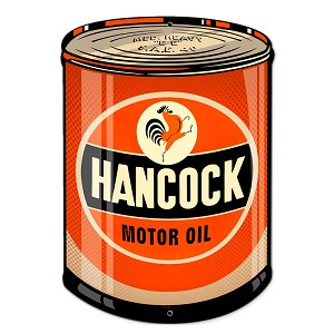 Hancock Oil Vintage Metal Sign