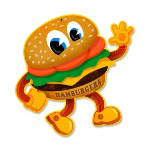 Hamburger Vintage Metal Sign