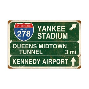 Yankee Stadium Vintage Metal Sign