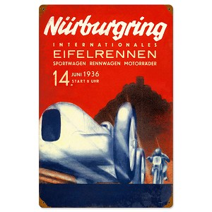 Nurburgring Vintage Metal Sign