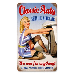 Classic Auto Vintage Metal Sign