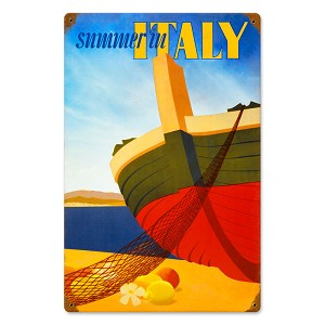 Italy Summer Vintage Metal Sign