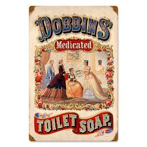 Dobbins Medicated Soap Vintage Metal Sign