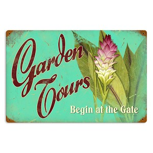 Garden Tours Vintage Metal Sign