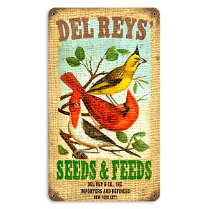 Del Rey's Seeds Vintage Metal Sign