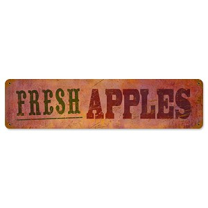 Fresh Apples Vintage Metal Sign