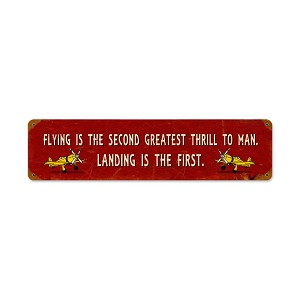 Greatest Thrill Vintage Metal Sign