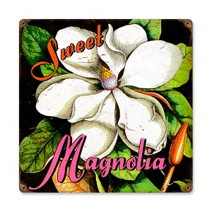 Sweet Magnolia Vintage Metal Sign