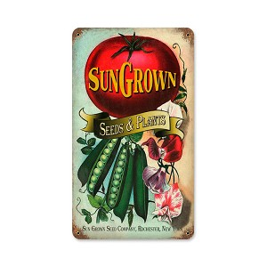 Sun Gown Seeds Vintage Metal Sign