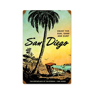 San Diego Vintage Metal Sign