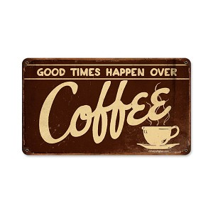 Coffee Vintage Metal Sign
