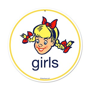 Girls Vintage Metal Sign