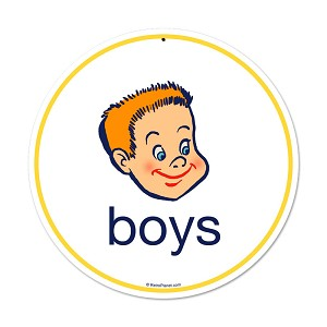 Boys Vintage Metal Sign