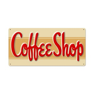 Coffee Shop Vintage Metal Sign