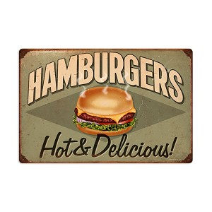 Hamburgers Vintage Metal Sign