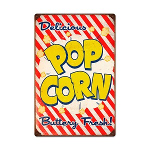 Pop Corn Vintage Metal Sign