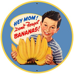Bananas Vintage Metal Sign