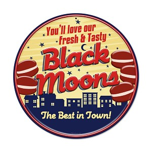 Black Moons Vintage Metal Sign