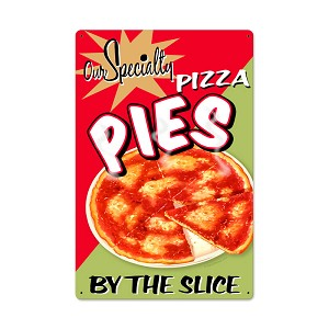 Pizza Pies Vintage Metal Sign