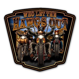 Hawgs Out Vintage Metal Sign