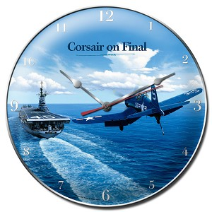 Corsair Vintage Metal Sign Clock