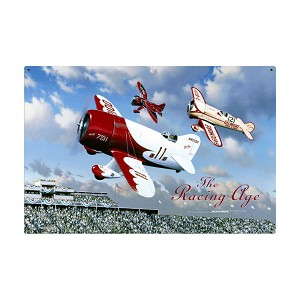 The Racing Age Vintage Metal Sign