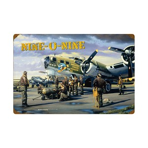 Nine O Nine Vintage Metal Sign