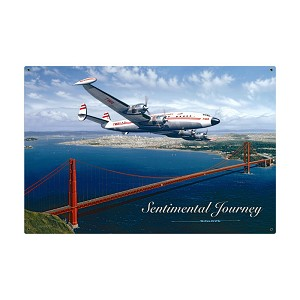 Sentimental Journey Vintage Metal Sign