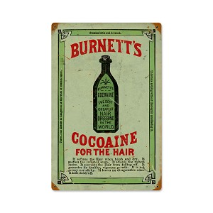 Burnett's Cocoaine Vintage Metal Sign