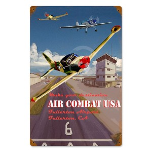 Air Combat Vintage Metal Sign