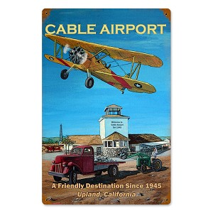 Cable Airport Vintage Metal Sign