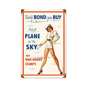 War Bonds Vintage Metal Sign