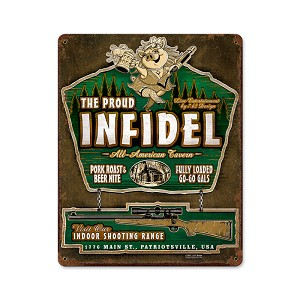 Infidel Vintage Metal Sign