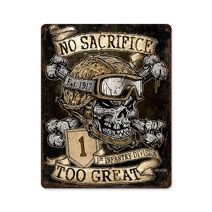 No Sacrifice Too Great Vintage Metal Sign