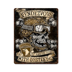 Rendezvous with Destiny Vintage Metal Sign