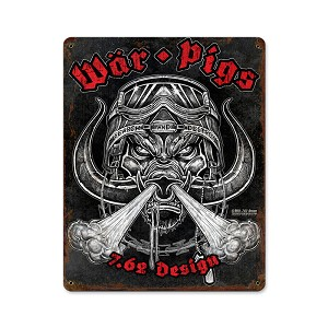 War Pigs Vintage Metal Sign