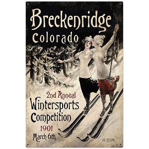 Ski Breckenridge Vintage Metal Sign