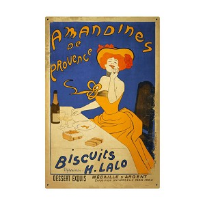 Amandines Biscuits Vintage Metal Sign