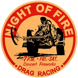 Night of Fire Vintage Metal Sign