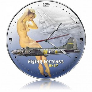 B-17 Nude Metal Clock
