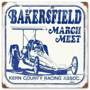 March Meet Vintage Metal Sign