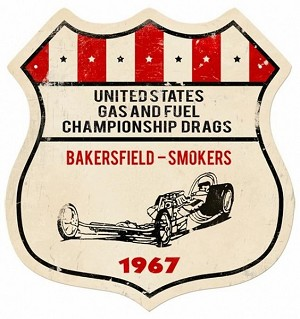 US Gas Fuel Metal Sign