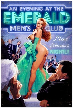 Emerald Mens Club Metal Sign